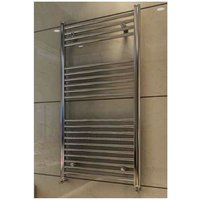 Eastbrook Wingrave Steel Chrome Straight Heated Towel Rail 1200mm x 500mm Electric Only - Standard