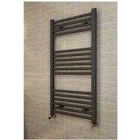 Eastbrook Wingrave Steel Matt Anthracite Straight Heated Towel Rail 1800mm x 400mm Dual Fuel - Standard