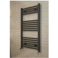 Eastbrook Wingrave Steel Matt Anthracite Straight Heated Towel Rail 800mm x 400mm Dual Fuel - Thermostatic