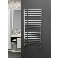 Eastgate 304 Square Polished Stainless Steel Heated Towel Rail 1200mm x 600mm - Dual Fuel - Thermostatic - 2493BTUs