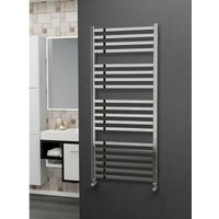 Eastgate 304 Square Polished Stainless Steel Heated Towel Rail 1400mm x 600mm - Electric Only - Standard - 2945BTUs