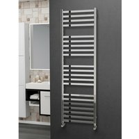 Eastgate 304 Square Polished Stainless Steel Heated Towel Rail 1600mm x 500mm - Dual Fuel - Thermostatic - 2872BTUs