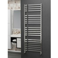 Eastgate 304 Square Polished Stainless Steel Heated Towel Rail 1600mm x 600mm - Dual Fuel - Thermostatic - 3288BTUs