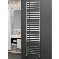 Eastgate 304 Square Polished Stainless Steel Heated Towel Rail 1800mm x 500mm - Dual Fuel - Thermostatic - 3175BTUs