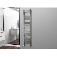 Eastgate 304 Straight Polished Stainless Steel Heated Towel Rail 1600mm x 350mm - Electric Only Thermostatic - 2097BTUs