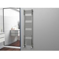 Eastgate 304 Straight Polished Stainless Steel Heated Towel Rail 1600mm x 400mm - Dual Fuel - Thermostatic - 2313BTUs