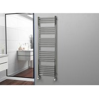 Eastgate 304 Straight Polished Stainless Steel Heated Towel Rail 1600mm x 500mm - Electric Only Thermostatic - 2747BTUs
