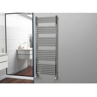 Eastgate 304 Straight Polished Stainless Steel Heated Towel Rail 1600mm x 600mm - Electric Only Thermostatic - 3179BTUs