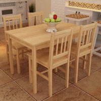 Eastgate Dining Set with 4 Chairs by Brown - Classicliving