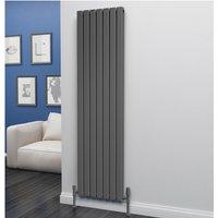 Eben Steel Anthracite Vertical Designer Radiator 1800mm x 476mm Double Panel - Central Heating - Eastgate