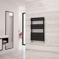 Eastgate Eclipse Black Designer Towel Rail 825mm x 500mm - Dual Fuel - Standard
