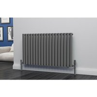Eastgate Eclipse Steel Anthracite Horizontal Designer Radiator 600mm x 1044mm Single Panel - Electric Only -Thermostatic