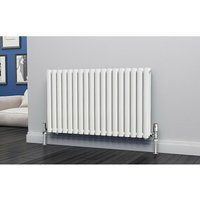 Eastgate Eclipse Steel White Horizontal Designer Radiator 600mm x 1044mm Double Panel - Electric Only - Thermostatic