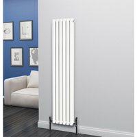 Eclipse Steel White Vertical Designer Radiator 1600mm x 348mm Double Panel - Central Heating - Eastgate
