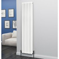 Eclipse Steel White Vertical Designer Radiator 1800mm x 406mm Double Panel - Central Heating - Eastgate