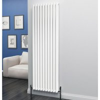Eastgate Eclipse Steel White Vertical Designer Radiator 1800mm x 580mm Double Panel - Central Heating