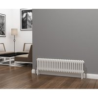 Lazarus Steel White Horizontal 3 Column Radiator 300mm x 1177mm - Dual Fuel - Standard - Eastgate