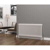 Lazarus Steel White Horizontal 3 Column Radiator 600mm x 1177mm - Dual Fuel - Standard - Eastgate