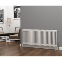 Eastgate Lazarus Steel White Horizontal 3 Column Radiator 600mm x 1355mm - Electric Only - Thermostatic