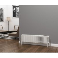 Eastgate Lazarus Steel White Horizontal 4 Column Radiator 300mm x 1164mm - Electric Only - Thermostatic