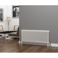 Lazarus Steel White Horizontal 4 Column Radiator 500mm x 1164mm - Central Heating - Eastgate