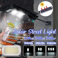 Easy to Install Solar Powered Waterproof IP67 Outdoor Solar Motion Lights Security Lights for Front Door, Yard, Garage, Patio, Fence (Black, 80Led