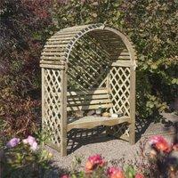 Victoria Arbour Wooden Timber Garden Seat Bench Trellis - Rowlinson