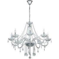 BASILANO 1 Chrome 8-light chandelier - Eglo