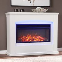 Electric Fireplace Insert Wall Mounted Freestanding Heater with LED Surround