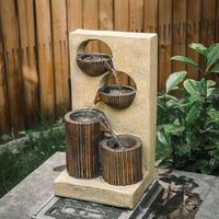 ELECTRIC WATER FEATURE FOUNTAIN GARDEN ElECTRIC POWERED INDOOR OUTDOOR CASCADE PUMP LED LIGHTS