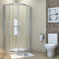 1000 x 1000 mm offset Quadrant Shower Enclosure 6mm Tempered Sliding Glass Cubicle Door - Elegant