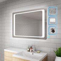 1000 x 700 mm Illuminated LED Bathroom Mirror Light Infrared Sensor + Demister - Elegant
