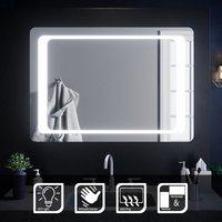 ELEGANT 1000 x 700 mm Illuminated LED Bathroom Mirror Light Infrared Sensor + Demister