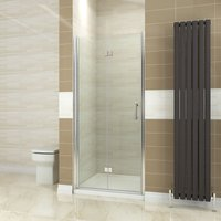1000mm Bifold Shower Door Glass Shower Enclosure Reversible Folding Cubicle Door - Elegant