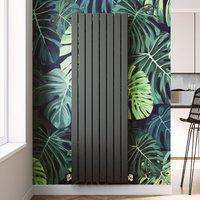 ELEGANT 1800 x 608 mm Vertical Designer Radiator Anthracite Double Flat Panel Column Tall Upright Central Heating Radiators