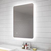 700 x 500 mm Modern Backlit Illuminated LED Bathroom Mirror Light with Touch Sensor Vertical Horizontal - Elegant