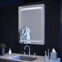 800 x 600 mm Illuminated LED Bathroom Mirror Light Infrared Sensor + Demister - Elegant