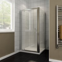 800 x 700 mm Pivot Shower Enclosure Glass Screen Door Cubicle Panel - Elegant