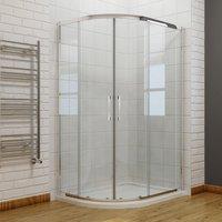 ELEGANT 800 x 800 mm Quadrant Shower Enclosure 8mm Easy Clean Glass Sliding Shower Door