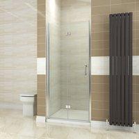 800mm Bifold Shower Door Glass Shower Enclosure Reversible Folding Shower Door - Elegant