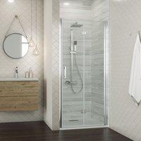ELEGANT Bifold Shower Door Glass Shower Enclosure Reversible Folding Cubicle Screen Door 1000mm
