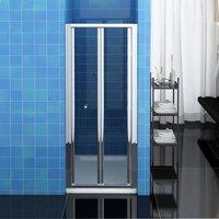 Bifold Shower Enclosure Reversible Folding Glass Shower Cubicle Door 860mm - Elegant
