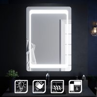 Illuminated LED Bathroom Mirror Light Sensor + Demister 1000 x 700 mm - Elegant