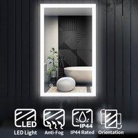 ELEGANT LED Illuminated Bathroom Mirror Light Touch Sensor 1000 x 600 mm + Demister