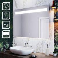 LED Illuminated Bathroom Mirror with Light 1000 x 700 mm Sensor + Demister - Elegant