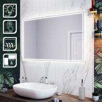 LED Illuminated Bathroom Mirror with Light 1000 x 600 mm Sensor + Demister - Elegant