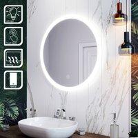 ELEGANT LED Illuminated Bathroom Mirror with Light 700 x 700 mm Sensor + Demister