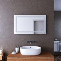 LED Illuminated Bathroom Mirror with Light 1000 x 600 mm Sensor + Demister + Shaver Socket - Elegant