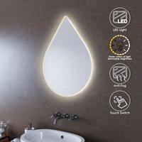LED Illuminated Bathroom Mirror with Light 600 x 800mm Sensor + Demister - Elegant
