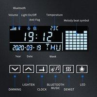 LED Illuminated Bathroom Mirror with Light 600x800 mm Sensor + Demister + Shaver Socket + Bluetooth Audio + Clock Function - Elegant